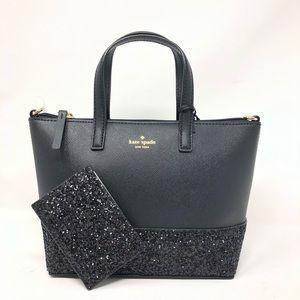 Kate Spade Greta court satchel bag+wallet set